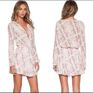 ADDISON Rose Pink Snake Print Dress Medium